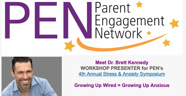 """Growing Up Wired = Growing Up Anxious"" with DTEC's Dr. Brett Kennedy at 4th Annual Stress & Anxiety Symposium Jan. 25-26th"